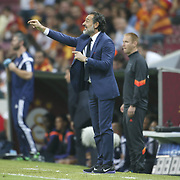 Galatasaray's Coach Claudio Cesare Prandelli during their UEFA Champions League Group Stage Group D soccer match Galatasaray between Anderlecht at the Ali Sami Yen Spor Kompleksi in Istanbul, Turkey on Tuesday 16 September 2014. Photo by Aykut AKICI/TURKPIX
