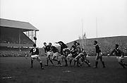 Irish Rugby Football Union, Ireland v Scotland, Five Nations, Landsdowne Road, Dublin, Ireland, Saturday 24th February, 1968,.24.2.1968, 2.24.1968,..Referee- M Joseph, Welsh Rugby Union, ..Score- Ireland 14 - 6 Scotland, ..Irish Team, ..T J Kiernan,  Wearing number 15 Irish jersey, Captain of the Irish team, Full Back, Cork Constitution Rugby Football Club, Cork, Ireland,..A T A Duggan, Wearing number 14 Irish jersey, Right Wing, Landsdowne Rugby Football Club, Dublin, Ireland,..B A P O'Brien, Wearing number 13 Irish jersey, Right Centre, Shannon Rugby Football Club, Limerick, Ireland,..F P K Bresnihan, Wearing number 12 Irish jersey, Left Centre, University College Dublin Rugby Football Club, Dublin, Ireland, ..R D Scott, Wearing number 11 Irish jersey, Left Wing, Queens University Rugby Football Club, Belfast, Northern Ireland, ..C M H Gibson, Wearing number 10 Irish jersey, Stand Off, N.I.F.C, Rugby Football Club, Belfast, Northern Ireland, ..B F Sherry, Wearing number 9 Irish jersey, Scrum Half, Terenure Rugby Football Club, Dublin, Ireland, ..K G Goodall, Wearing number 8 Irish jersey, Forward, City of Derry Rugby Football Club, Derry, Northern Ireland,..T J Doyle, Wearing number 7 Irish jersey, Forward, Wanderers Rugby Football Club, Dublin, Ireland, ..M G Doyle, Wearing number 6 Irish jersey, Forward, Blackrock College Rugby Football Club, Dublin, Ireland,  ..W J McBride, Wearing number 5 Irish jersey, Forward, Ballymena Rugby Football Club, Antrim, Northern Ireland,..M G Molloy, Wearing number 4 Irish jersey, Forward, University College Galway Rugby Football Club, Galway, Ireland,  ..P O'Callaghan, Wearing number 3 Irish jersey, Forward, Dolphin Rugby Football Club, Cork, Ireland, ..A M Brady, Wearing number 2 Irish jersey, Forward, Malone Rugby Football Club, Belfast, Northern Ireland, ..S Millar, Wearing number 1 Irish jersey, Forward, Ballymena Rugby Football Club, Antrim, Northern Ireland,..Scottish Team, ..S Wilson, Wearing number 15 Scottish jersey, Fu