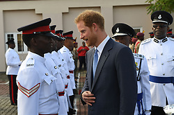 Prince Harry arrives at the Grenada Cruise Port in Grenada, during the second leg of his Caribbean tour.