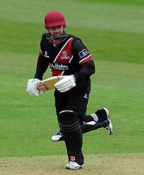 Somerset's Johann Myburgh - Photo mandatory by-line: Harry Trump/JMP - Mobile: 07966 386802 - 30/03/15 - SPORT - CRICKET - Pre Season Fixture - T20 - Somerset v Gloucestershire - The County Ground, Somerset, England.