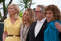 Actress Kirsten Dunst, Actress and Actress and Singer Vanessa Paradis, Director George Miller, Director Valeria Golino at the Members of the Jury photocall at the 69th Cannes Film Festival Wednesday 11th May 2016, Cannes, France. Photography: Doreen Kennedy