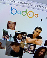 Detail of Internet social website Badoo homepage screen shot