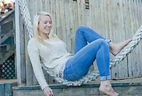 Sophia senior portrait session at Meredith Bay.  ©2015 Karen Bobotas Photographer