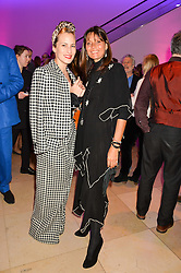 Left to right, CHARLOTTE DELLAL and COUNTESS DEBONAIRE VON BISMARCK at the Alexandra Shulman and Leon Max hosted opening of Vogue 100: A Century of Style at The National Portrait Gallery, London on 9th February 2016.