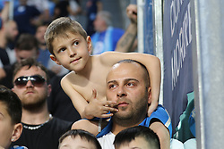April 22, 2018 - Torino, Piemonte, Italy - in the picture:fans of napoli and juventus at torino stadium.22 April 2018 - Turin, Italy - final match between F.C. Juneventu and SSC Napoli, at the Allianz Stadium in Turin, which is awarded the Scudetto in Serie A in Italy..Napoli wins 1-0. (Credit Image: © Fabio Sasso/Pacific Press via ZUMA Wire)