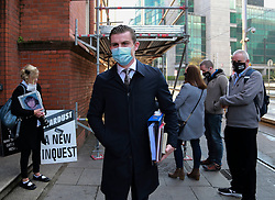 Pic Shows: Darragh Mackin  Solicitor <br /><br />Relatives of those killed and injured in the Stardust fire in north Dublin 40 years ago have spoken of their hope that a new inquest can answer their questions about how and why the tragedy happened.<br /> <br /> Families gathered at Dublin Coroner's Court this morning ahead of a preliminary hearing later this afternoon.<br /> <br /> Forty-eight people died and more than 200 were injured when the blaze broke out in the Stardust nightclub in Artane on St Valentine's night in 1981.<br /><br />Karen Morgan 14/10/20
