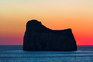 """Sugar Cube"" Rock at sunset in Sardinia"