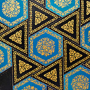 Mosaic tiles in the Tiled Kiosk at the Istanbul Archaeology Museums. Built in 1590 during the reign of Sultan Murad III (1574-1593), this fountain is ornately decorated with popular motifs of the time and region, including the peacock, tulips, carnations, and flowering plum branches. The Tiled Kiosk was commissioned by Sultan Mehmed II in 1472 and is one of the oldest buildings in Istanbul. It features Ottoman civil architecture, and was a part of the Topkapı Palace outer gardens. It was used as the Imperial Museum between 1875 and 1891 before the collection moved to the newly constructed main building. It was opened to public in 1953 as a museum of Turkish and Islamic art, and was later incorporated into the Istanbul Archaeology Museum. The Istanbul Archaeology Museums, housed in three buildings in what was originally the gardens of the Topkapi Palace in Istanbul, Turkey, holds over 1 million artifacts relating to Islamic art, historical archeology of the Middle East and Europe (as well as Turkey), and a building devoted to the ancient orient.