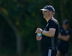 WREXHAM, WALES - Monday, July 22, 2019: North Wales coach Paul Inns during the Welsh Football Trust Cymru Cup 2019 at Colliers Park. (Pic by Paul Greenwood/Propaganda)