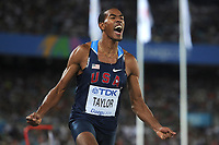 ATHLETICS - IAAF WORLD CHAMPIONSHIPS 2011 - DAEGU (KOR) - DAY 9 - 04/09/2011 - MEN TRIPLE JUMP FINAL - CHRISTIAN TAYLOR (USA) / WINNER - PHOTO : FRANCK FAUGERE / KMSP / DPPI