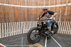 Rhett Rotten and his Wall of Death at the Harley-Davidson 115th Anniversary Celebration event. Milwaukee, WI. USA. Wednesday August 29, 2018. Photography ©2018 Michael Lichter.