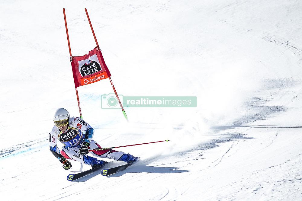 March 16, 2019 - El Tarter, Andorra - Victor Muffat - Jeandet of France Ski Team, during Men's Giant Slalom Audi FIS Ski World Cup race, on March 16, 2019 in El Tarter, Andorra. (Credit Image: © Joan Cros/NurPhoto via ZUMA Press)