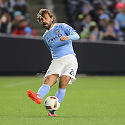 Andrea Pirlo, NYCFC, in action during the New York City FC Vs Orlando City, MSL regular season football match at Yankee Stadium, The Bronx, New York,  USA. 18th March 2016. Photo Tim Clayton
