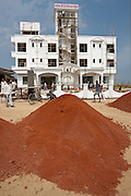 Economic growth in India - new luxury international hotel, Hotel Kariya Ji, being constructed near Varanasi Airport, Benares, India