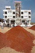 Economic growth in India - new luxury international hotel, Hotel Kariya Ji, being constructed near Varanasi Airport, Benares, India
