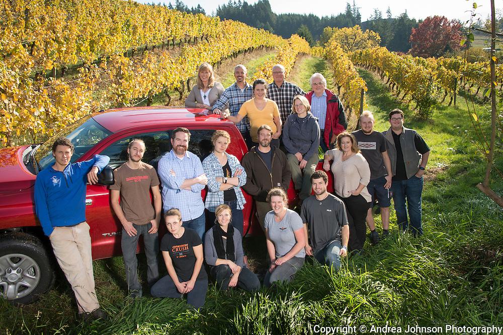 Team Chehalem harvest 2015, Chehalem Wines, Willamette Valley, Oregon