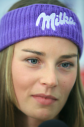 Tina Maze at press conference of Slovenian men and women alpine skiing national team before new season 2008/2009 in Hervis, City park, BTC, Ljubljana, Slovenia, on October 20, 2008.  (Photo by: Vid Ponikvar / Sportal Images)