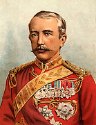 Garnet Joseph Wolseley, lst Viscount Wolseley (1833-1913). English soldier. Commander-in-Chief British Army 1890-1895.  In 1885 he arrived at Khartoum too late to relieve General Gordon.  Chromolithograph 1885.