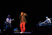 Oxmo Puccino, the hip hop musician, performs at the French Institute of Madrid