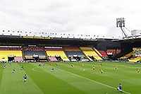 Football - 2019 / 2020 Premier League - Watford vs. Leicester City<br /> <br /> Players 'take the knee' for Black Lives Matter, at Vicarage Road.<br /> <br /> COLORSPORT/ASHLEY WESTERN