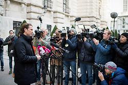 28.11.2017, Ausweichquartier Parlament, Wien, AUT, Koalitionsverhandlungen von ÖVP und FPÖ anlässlich der Nationalratswahl 2017, im Bild ÖVP-Chef Sebastian Kurz // Head of the Austrian Peoples Party (OeVP) Sebastian Kurz during coalition negotiations between the Austrian Peoples Party and Austrian Freedom Party due to general elections 2017 in Vienna, Austria on 2017/11/28, EXPA Pictures © 2017, PhotoCredit: EXPA/ Michael Gruber