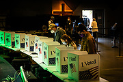Voters cast their ballots in the auditorium of Seacoast Church in Mt. Pleasant, South Carolina on Tuesday, November 3, 2020.<br /> <br /> Credit: Cameron Pollack for The New York Times