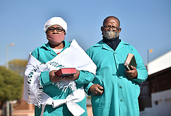 South Africa - Pretoria - 27 May 2020 - Members of the Ethiopian Holy Baptist Church Lady Bishop, Freda and Bishop John Nkosi talk about the opening of church gatherings as announced by the president.<br /> <br /> Picture: Thobile Mathonsi/African News Agency (ANA)