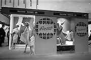 24/04/1964<br /> 04/24/1964<br /> 24 April 1964 <br /> Stands at the Irish Export Fashion Fair at the Intercontinental Hotel, Dublin. Tailteann Textiles Ltd. (Mullingar, Co. Westmeath) display at the fair.