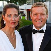 NLD/Hilversum/20100830 - Voetbalgala 2010,Soren Lerby en partner Arlette van der Meulen