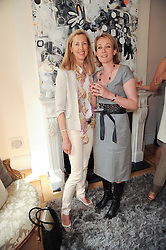 Left to right, Countess Catrina Guerrini-Maraldi and Anastasia Baker at a party hosted by Maria Hatzistefanis to celebrate the publication of Santa Montefiore's new book 'The Affair' held at 35 Walpole Road, London on 27th April 2010.