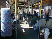 Interior of a public bus Israel, Haifa