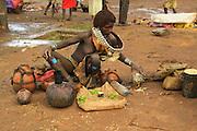 Africa, Ethiopia, Omo River Valley Hamer Tribe market