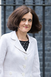 Downing Street,  London, June 27th 2015. Northern Ireland Secretary Theresa Villiers leaves the first post-Brexit cabinet meeting at 10 Downing Street.