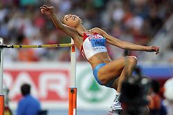 01-08-2010 ATLETIEK: EUROPEAN ATHLETICS CHAMPIONSHIPS: BARCELONA<br /> Blanka VLASIC (CRO) - Winner High Jump Final <br /> ©2010-WWW.FOTOHOOGENDOORN.NL