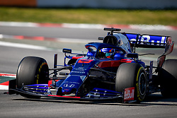 February 28, 2019 - Montmelo, Barcelona, Calatonia, Spain - Alex Albon of Scuderia Toro Rosso Honda seen in action during the second week F1 Test Days in Montmelo circuit, Catalonia, Spain. (Credit Image: © Javier Martinez De La Puente/SOPA Images via ZUMA Wire)