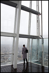 The View from the Shard as the London Mayor Boris Johnson officially opens the Shard building to the General public, central London, Friday February 1, 2013. Photo By Andrew Parsons / i-Images