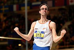 27-02-2016 NED: NK Atletiek Indoor, Apeldoorn<br /> Jan Peter Larsen is Nederlands kampioen hoogspringen geworden