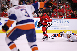 March 3, 2017 - Chicago, IL, USA - Chicago Blackhawks right wing Patrick Kane (88) follows the puck in the first period of a game against the New York Islanders at the United Center on Friday, March 3, 2017 in Chicago, IL. (Credit Image: © Chris Sweda/TNS via ZUMA Wire)