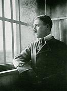Adolf Hitler, a political prisoner in the Fortress of Landsberg, after the failure of the Munich Beer Hall Putrsch of November 1923.