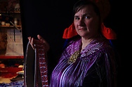 Ann Solveig Nystad learned the art of Sami weaving and needlecraft from her grandmother. This man's belt took one week to weave in three separate strips.