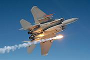 F-15C Eagles, Kadena AFB Okinawa, pops flares