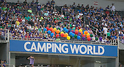 MLS Game, Orlando City v San Jose Earthquake, Orlando City dedicate match to Pulse nightclub Shootings In Orlando.  <br /> 06-18-16.<br /> Orlando's gone but not forgotten, 49 seats marked with balloons, of the 49 slain at the Pulse Nightclub. <br /> Orlando, Florida, USA.<br /> Picture  Mark Davison for DailyMail.com<br /> Saturday 18th June 2016.