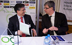 Sinisa Mitrovic and Marcel Benz at Management conference of Slovenian Football Federation, on March 10, 2009, in Hotel Kokra, Brdo pri Kranju, Slovenia. (Photo by Vid Ponikvar / Sportida)
