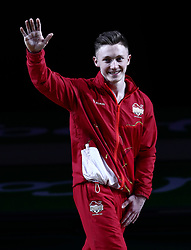 England's Nile Wilson with his Silver medal won in the Men's Parallel Bars at the Coomera Indoor Sports Centre during day five of the 2018 Commonwealth Games in the Gold Coast, Australia.