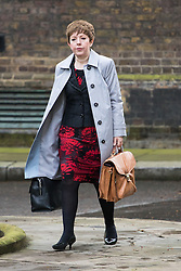 Downing Street, London, April 12th 2016. Leader of the House of Lords, Baroness Tina Stowell arrives at the weekly cabinet meeting. ©Paul Davey<br /> FOR LICENCING CONTACT: Paul Davey +44 (0) 7966 016 296 paul@pauldaveycreative.co.uk