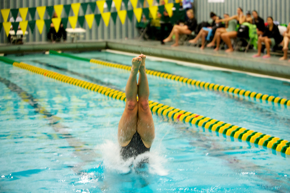 The swim meet between Wagner and Vermont at the Frank D. Forbush Natatorium on Saturday October 13, 2012 in Burlington, Vermont.