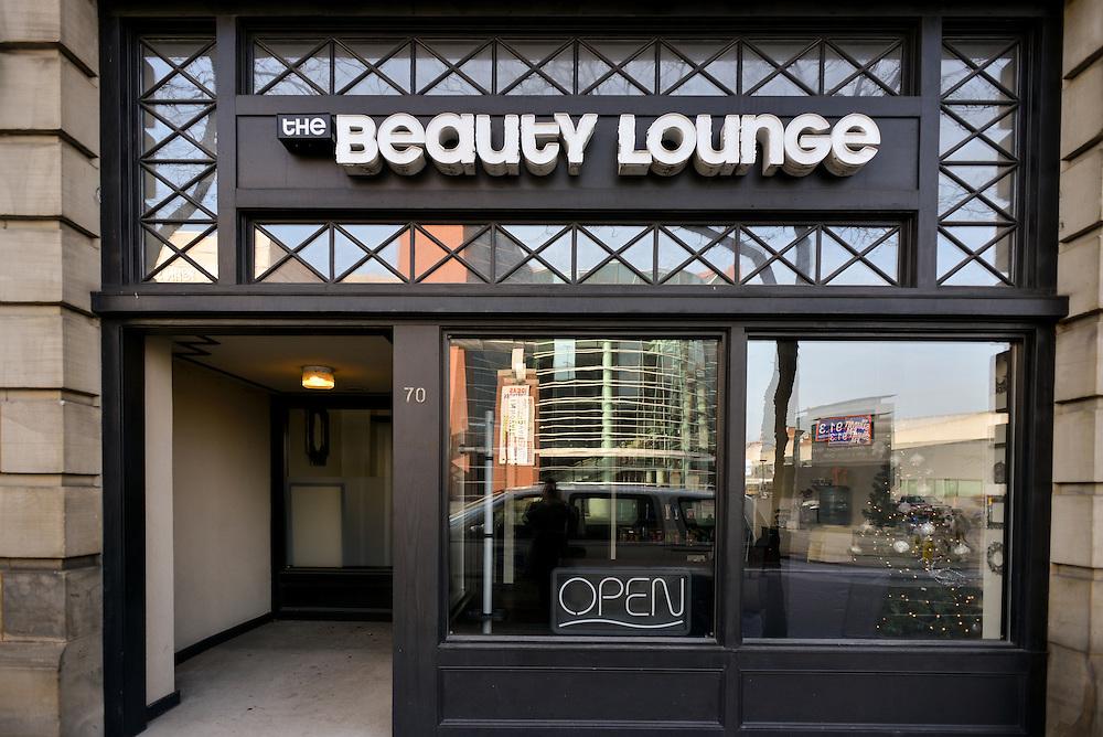 Exterior of The Beauty Lounge hair salon.