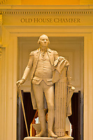 Statue of George Washington, Rotunda of the Virginia State Capitol, Richmond, Virginia USA