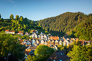 Half-timbered houses in Schiltach, Kinzigtal Valley, Black Forest, Baden-Wuerttemberg, Germany