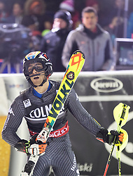 22.12.2016, Canalone Miramonti Rennstrecke, Madonna di Campiglio, ITA, FIS Ski Weltcup, Madonna di Campiglio, Slalom, Herren, 2. Lauf, im Bild Stefano Gross (ITA, 3. Platz) // third placed Stefano Gross of Italy reacts after his 2st run of men's Slalom of FIS ski alpine world cup at the Canalone Miramonti race course in Madonna di Campiglio, Italy on 2016/12/22. EXPA Pictures © 2016, PhotoCredit: EXPA/ Johann Groder